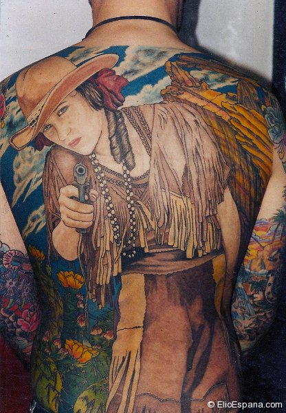 Annie Oakley Tattoo - Full back