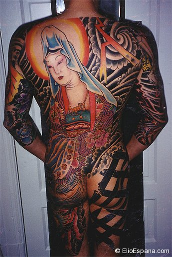 Japanese Back Tattoo Geisha