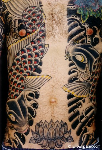 Japanese Body Suit Tattoo -front