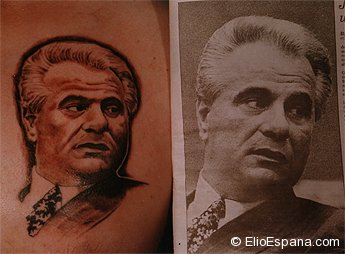 John Gotti Portrait Tattoo