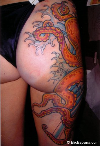 Octopus Tattoo on hip